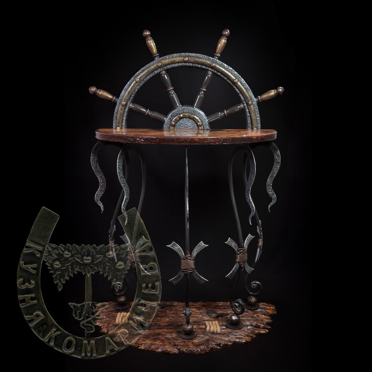 """Пиратский стол """"Штурвал"""""""