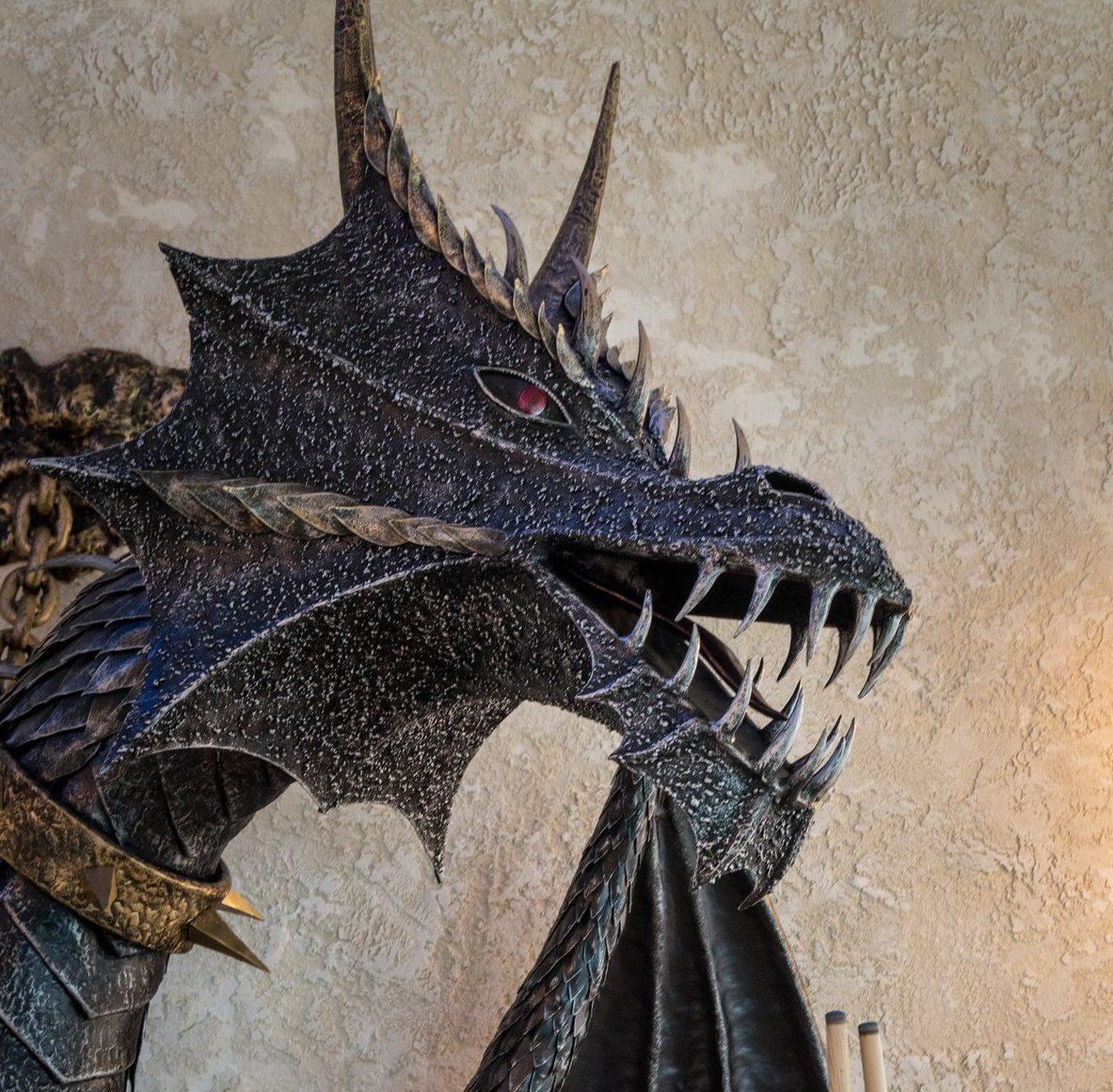 Цельнокованые дракон. Дата изготовления 2018 год