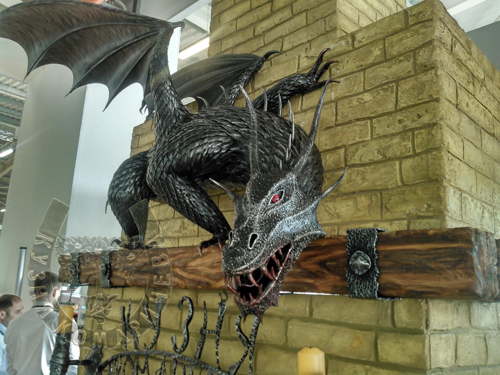 Цельнокованый дракон. Дата изготовления 2018 год